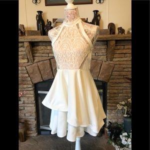 Pretty white lace sexy dress sz small